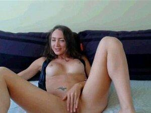 Largas patas MILF burlas en cam