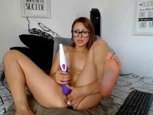 Descalzo webcam nerd college girl orgasmo