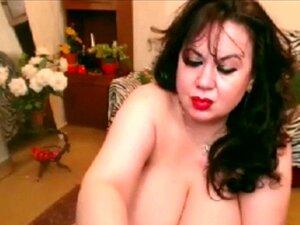 Digitación de cachonda morena en webcam